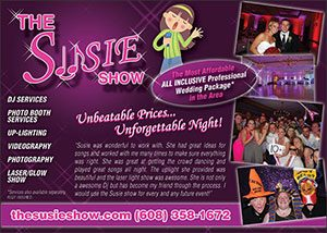 The Susie Show wedding show advertisement
